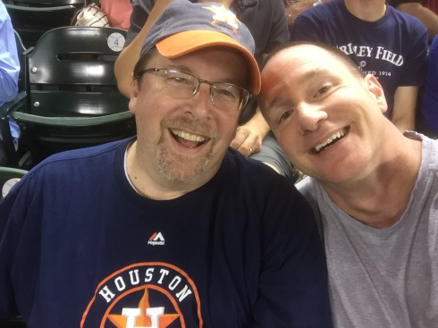 Craig and I sharing an Astro's game together - they lost...